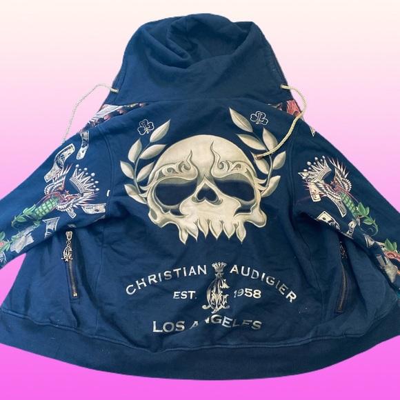 Authentic christian Audigier men's hoodie